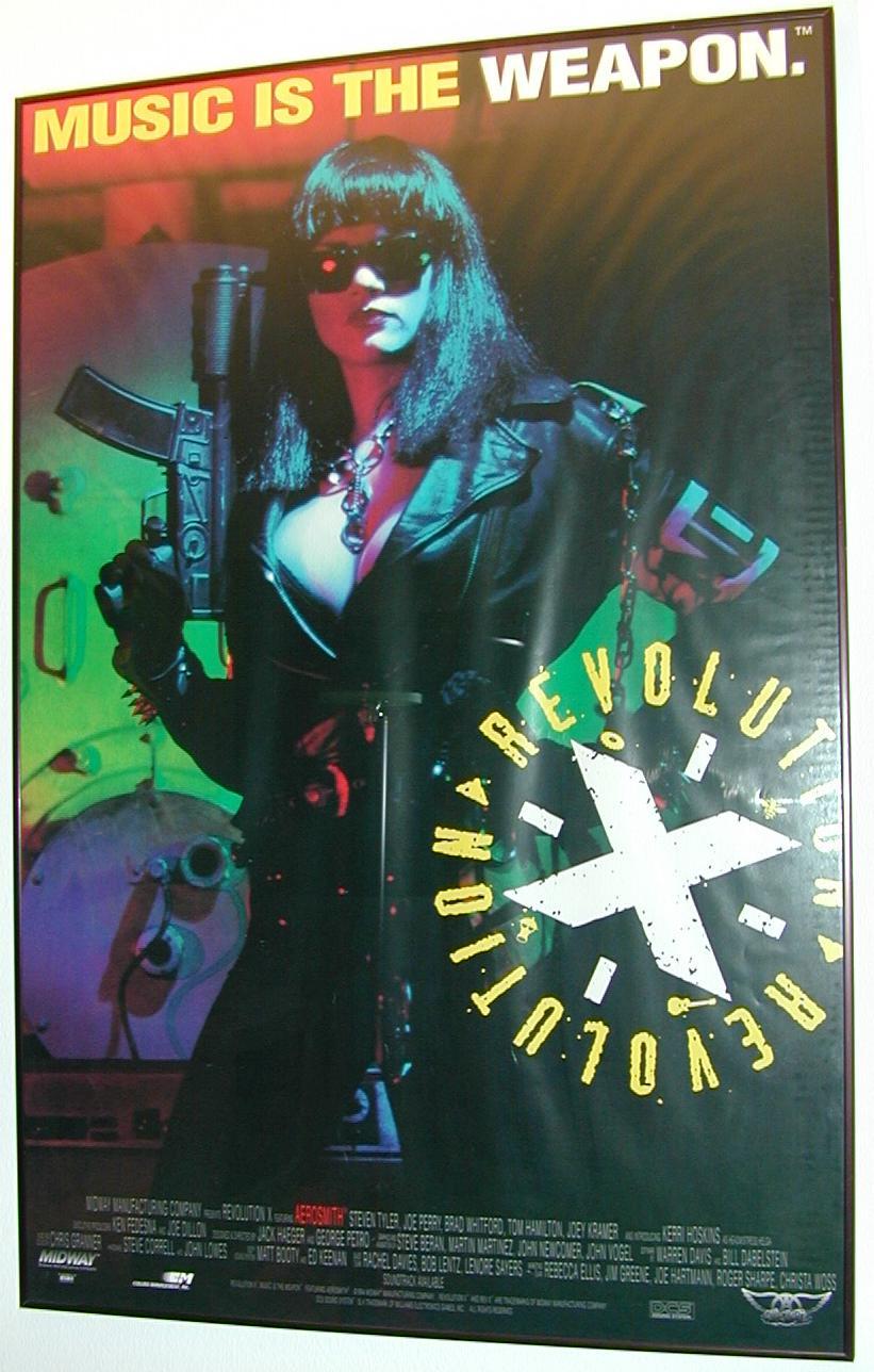 Revolution X Marquee Coin Op Videogame Arcade Pinball